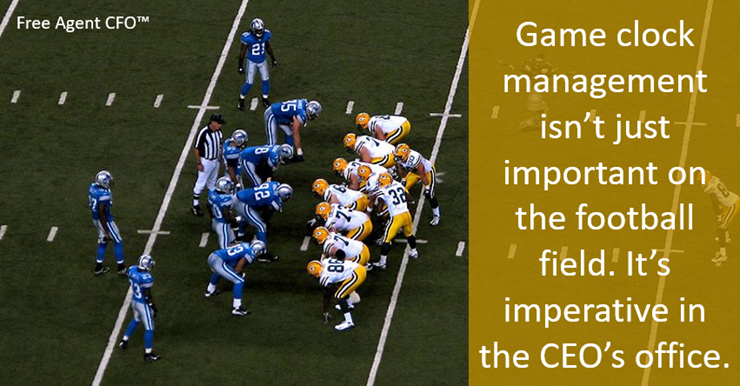 Game Clock Management is Not Just Critical on the Football Field but in the CEOs Office Too