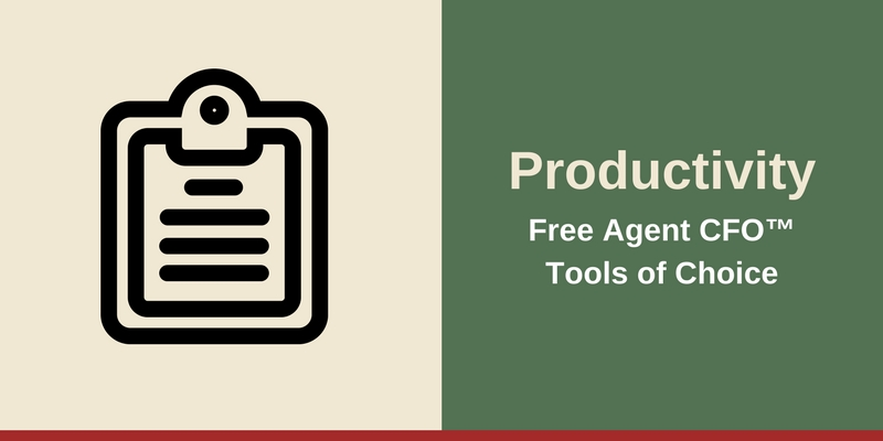 Resources - Productivity Free Agent CFO™Tools of Choice