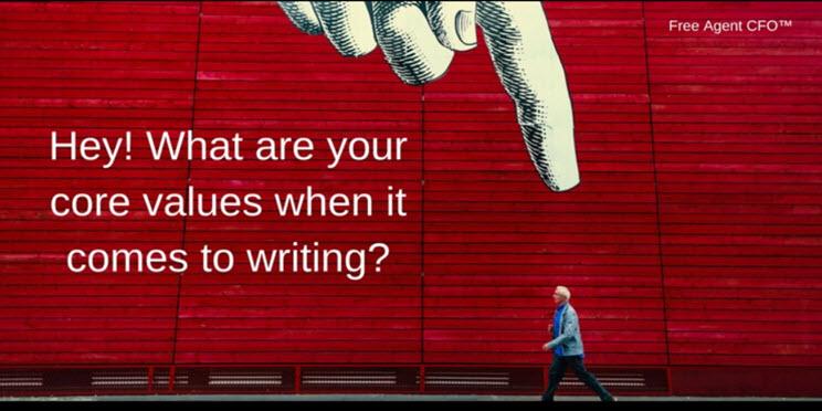 Writing Core Values