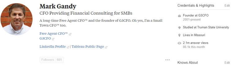 Mark Gandy Quora Profile