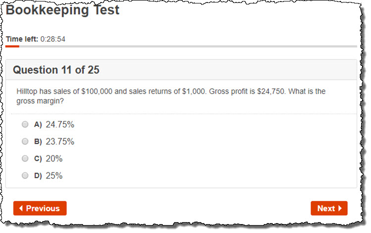 Accounting Test Sample